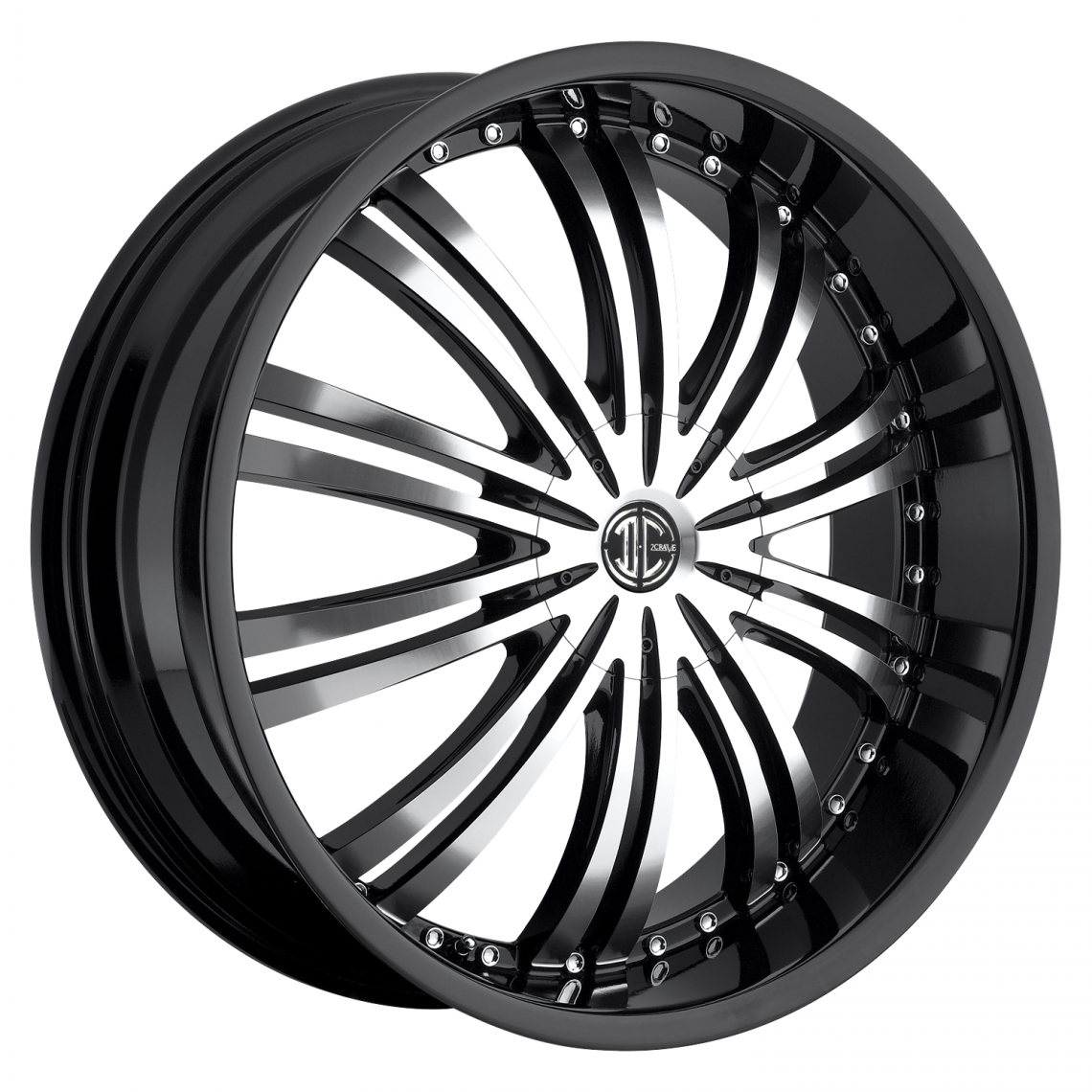 2Crave No.1 Glossy Black / Machined Face